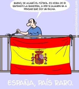 http://ladoblemoral.com/2014/10/22/cuidado-lleva-una-bandera-de-espana-en-espana/